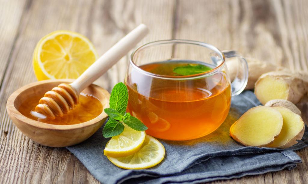 Honig, Ingwer und Zitrone